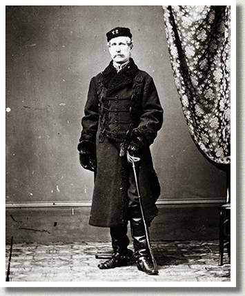 Major J.H. Graham of the 22nd Cheshire Regiment, ca. Late 1860s.