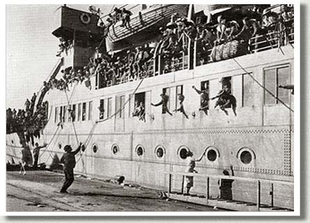 Embarkation of Canadian Troops Destined for France, 1940.