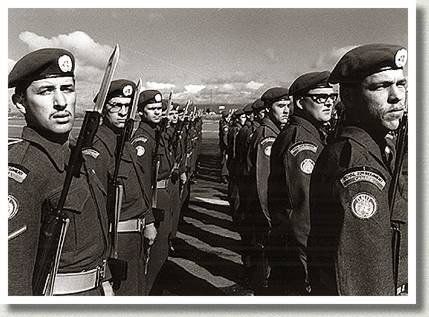 Royal 22e Regiment Forms an Honour Guard, Nicosia, Cyprus, March 1964.